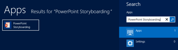 Search  Apps for PowerPoint Storyboarding