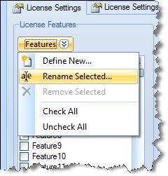 crypto license rename feature