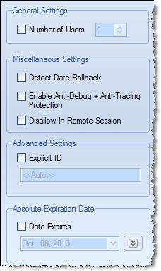 crypto license settings set