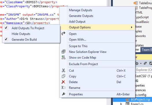 5 csp Output Options