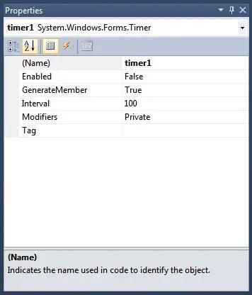 Windows Service Timer Properties