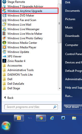 windows anytime upgrade windows 7 ultimate 32 bits 2017