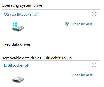 Windows 8 Bitlocker Drive Encryption