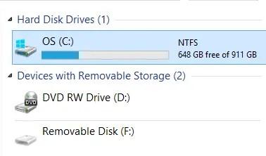 Windows 8 Computer Drive C