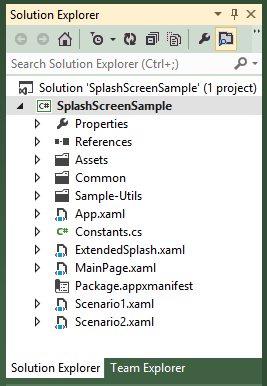 Visual Studio 2012 Solution Explorer
