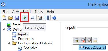 Dotfuscator visual studio 2012 Build Project