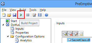 Dotfuscator visual studio 2012 Build Project