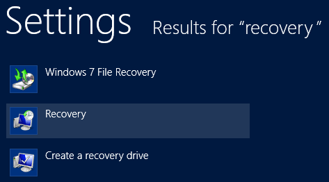 Select to create a recovery drive