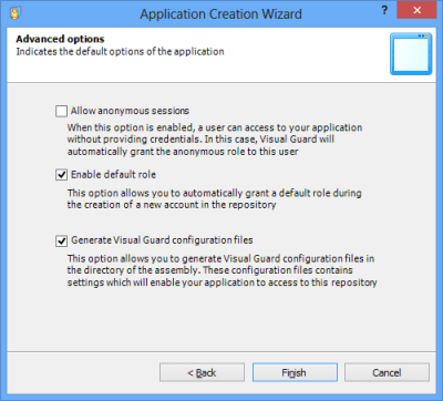 Visual Guard Advanced Options