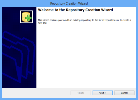 Repository Creation Wizard