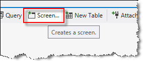 create new screen