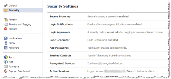 facebook privacy security settings