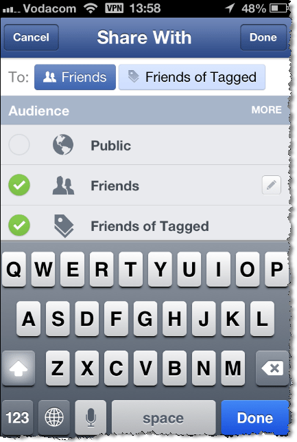 Edit Facebook Mobile Photo Tags