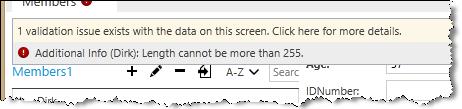 validation error details