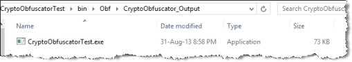 obfuscated exe