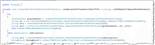 obfuscated form load