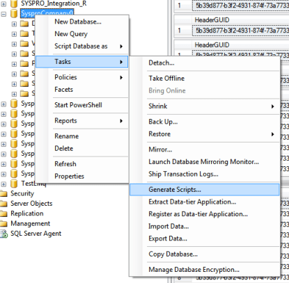 Script Table Data