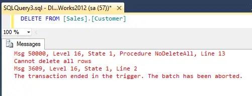 Prevent Accidental Table Data Deletion
