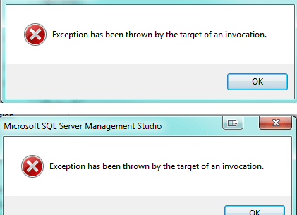 Exception Thrown By Target Of Invocation