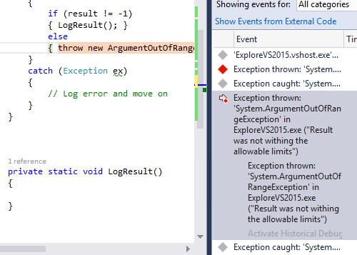 Visual Studio 2015 IntelliTrace