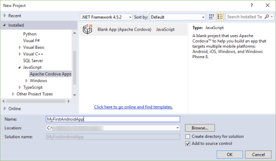 Visual Studio Enterprise 2015 First Android App