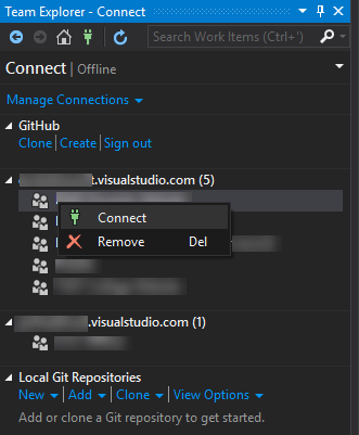 TF30063 Authorization Error - Connect