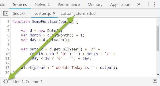 Chrome Dev Tools Make Code Look Pretty