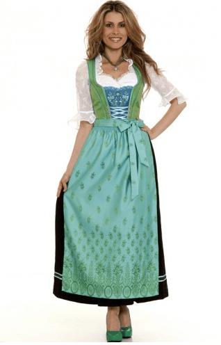 Dirndl grün-schwarz-aqua, Spieth & Wensky