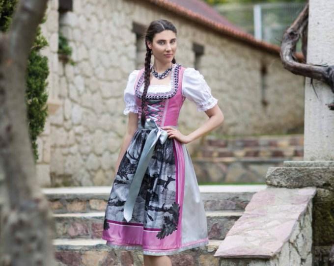 Oktoberfest Dirndl rosé/silber - Bergweiss Trachten
