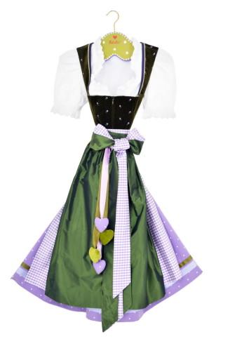 Schatzi Dirndl schwarz - grün - lila