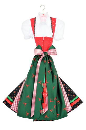 Schatzi Dirndl rot - grün - schwarz