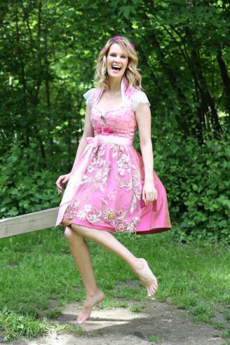 Couture Dirndl - Brautdirndl pink, Astrid Söll
