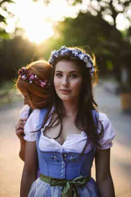 Tracht Haarschmuck Blumenkranz von We are Flowergirls