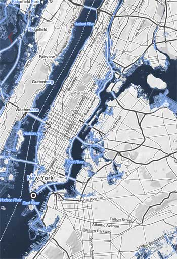 Sea level rise in New York City / Climate Central