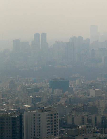 Tehran air pollution / Green Prophet