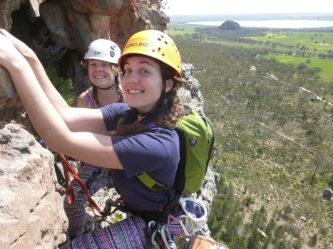 My climbing family on a day out at Arapiles