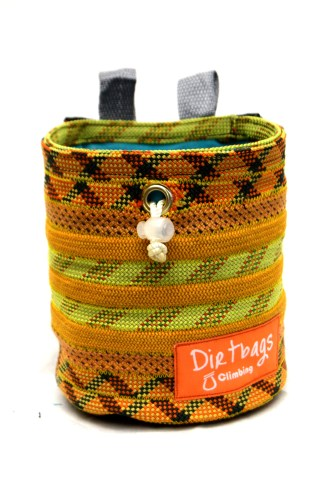 Recycled rope climbing chalk bag, made ethically in the UK