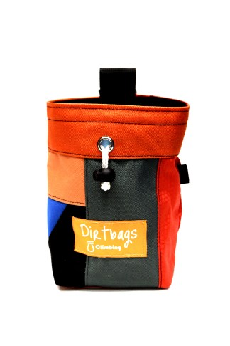 Orange patchwork chalk bag