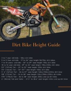 Getting the seat height right for your size when selecting  dirt bike also sizing chart interactive guide rh dirtbikebeginnerpro