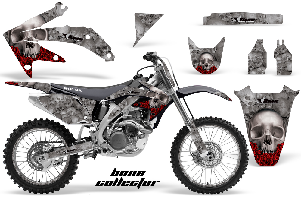 Honda CRF450 05-08 Graphics Kit BONECOLLECTOR-SILVER