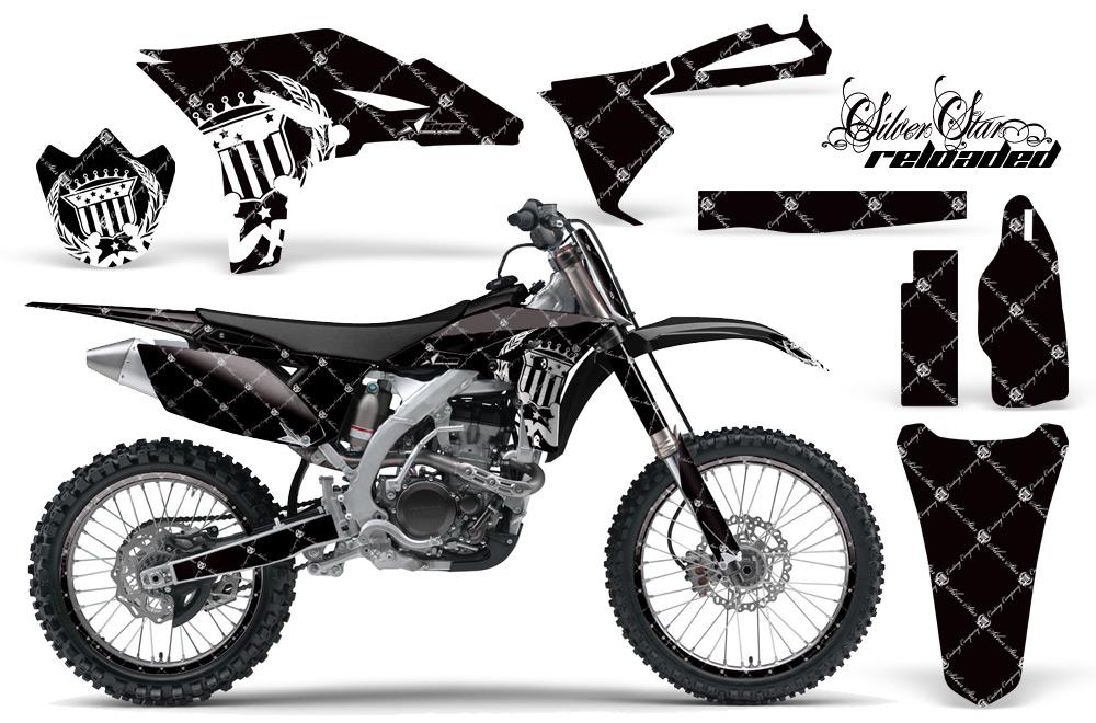 Yamaha YZ250F 2010 Graphics Kit RELOADED-WHITE BLACKBG-NP