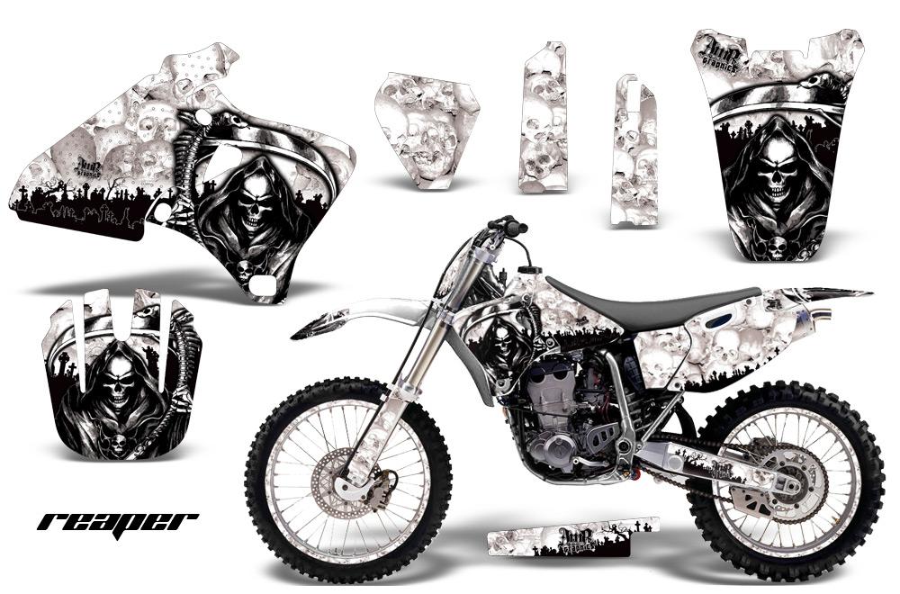 Yamaha YZ426F Graphics Kit Reaper White
