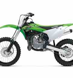 in order to create the kx100 kawasaki gave the kx85 a 4mm increase in bore a larger keihin carburetor and larger wheels the front is a 19 incher  [ 1200 x 900 Pixel ]