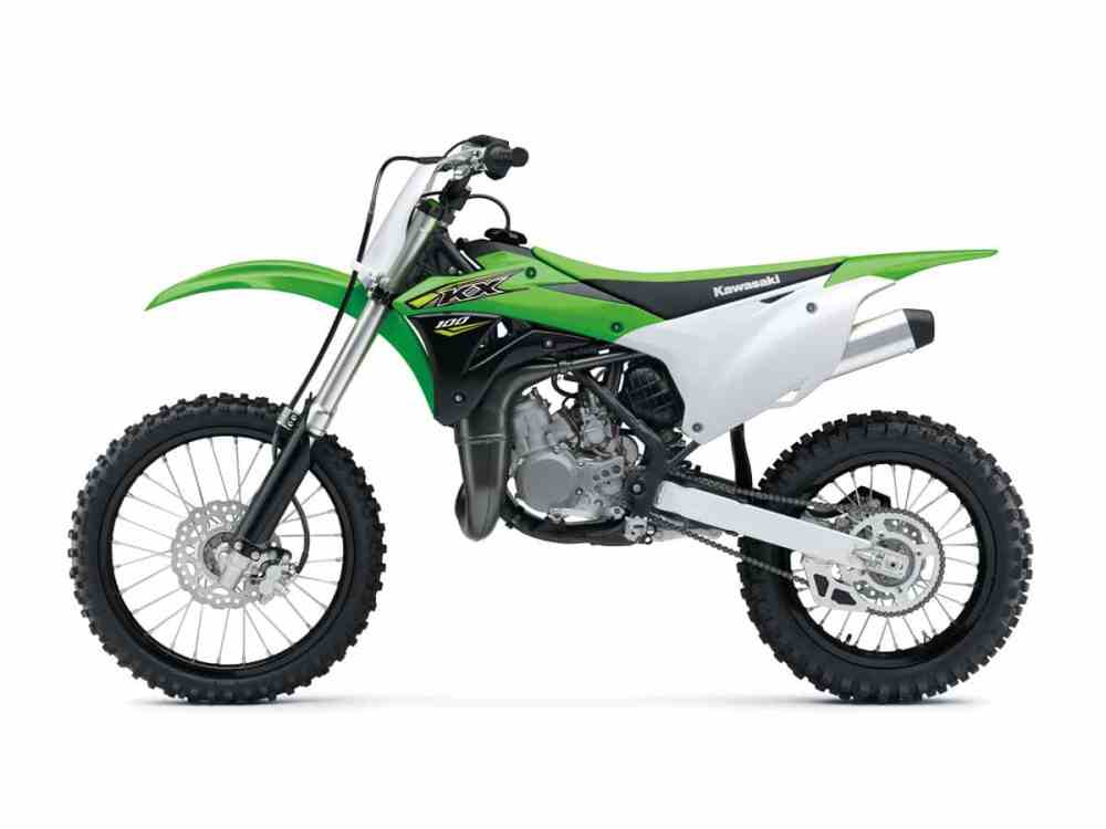 medium resolution of in order to create the kx100 kawasaki gave the kx85 a 4mm increase in bore a larger keihin carburetor and larger wheels the front is a 19 incher