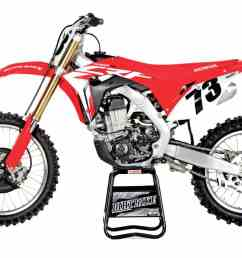 honda crf450r 9149 in 2017 this was the most highly anticipated motocross bike on the scene it was all new with a spring showa fork and a reconfigured  [ 1200 x 795 Pixel ]