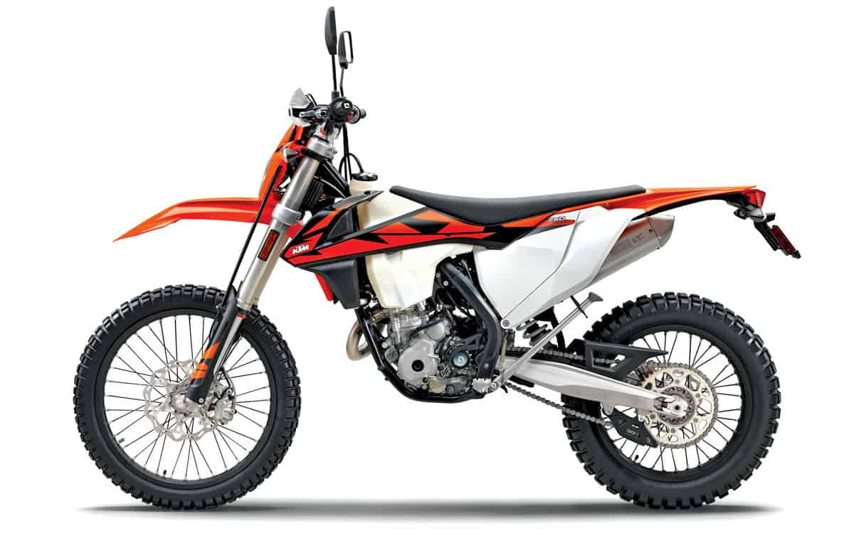 hight resolution of ktm s smallest dual sport bike is similar to the fe350 but feels smaller and lighter this machine is 90 percent dirt bike and feels somewhat out of place