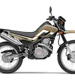 in order to compete price wise with the honda crf250l and the kawasaki klx250 yamaha offers a second model in the 250 dual sport category  [ 1200 x 800 Pixel ]