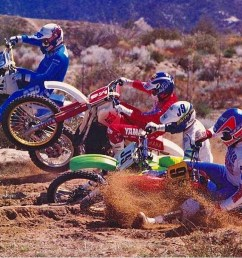 i m on the inside on the honda cr500 the general jon miller is next to me with my buddy larry roeseler on the yz490 next in  [ 1113 x 1063 Pixel ]
