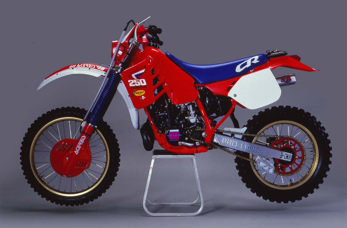 hight resolution of giles lalay the overall winner of the 1985 i s d e on a modified cr250 was instrumental in the development of both the wide ratio transmission designed by