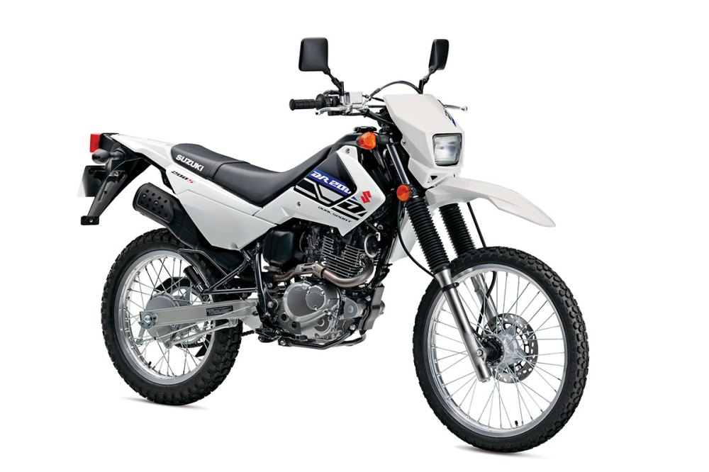 medium resolution of this machine has been in the suzuki line consistently mainly because it s a very capable commuter and minor off road excursion machine the bike has an